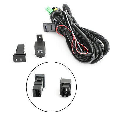 H11 Fog Light Wiring Harness Sockets Wire LED Indicators Switch for Halo Fog Light Wiring Harness Kit on