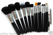 15 Piece Makeup Brush Set - with Black Leather Case