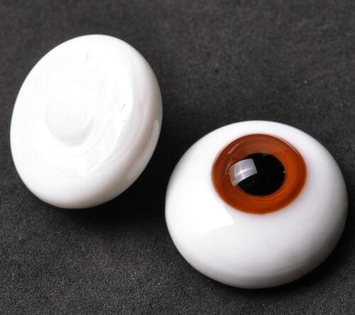 Nice 22mm Flatback Dark Brown Glass BJD Eyes for MSD DOD AOD Volks reborn doll