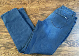 Chicos Para Adelgazar Azul Marino Pantalones De Mezclilla Para Mujer 1 5 Regular Ebay