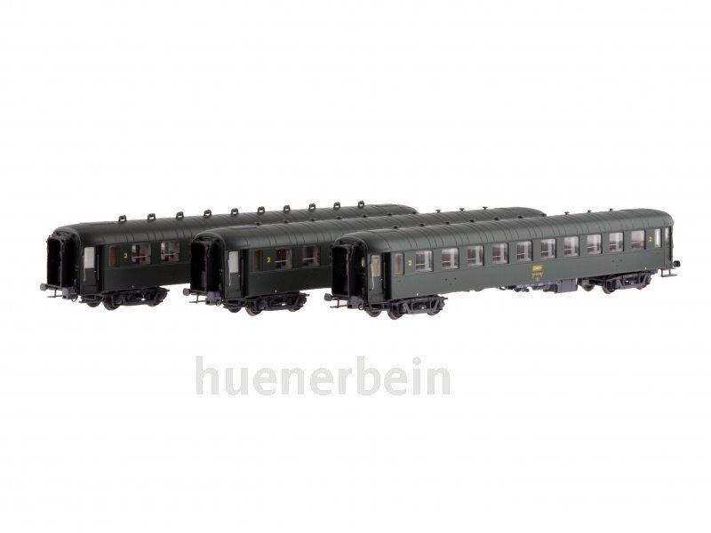 LS/modelsworld mw40901 3x SNCF 2. KL personenwag ocem b10 Verde/Grigio ep4a NUOVO + OVP