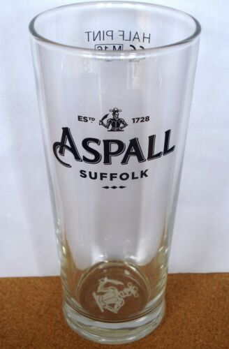 HALF PINT BEER GLASS ASPALL CIDER// CYDER NEW UK // BRITISH SUFFOLK 2016