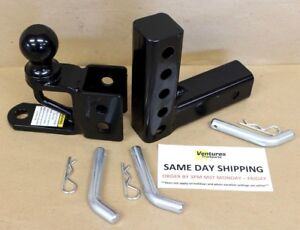 Adjustable Trailer Hitch For Atv And Utv Applications 2 Ball 2 Receiver Ebay