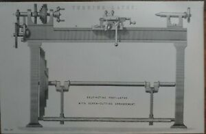 Antique-print-of-a-Turning-lathe-19th-century-Victorian-woodworking-engineer