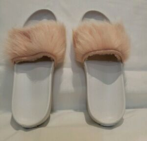 88b3f01c224 Details about UGG ROYALE SLIPPERS/SANDALS 1018875 AUTHENTIC NEW* SZ 8  PINK/WHITE