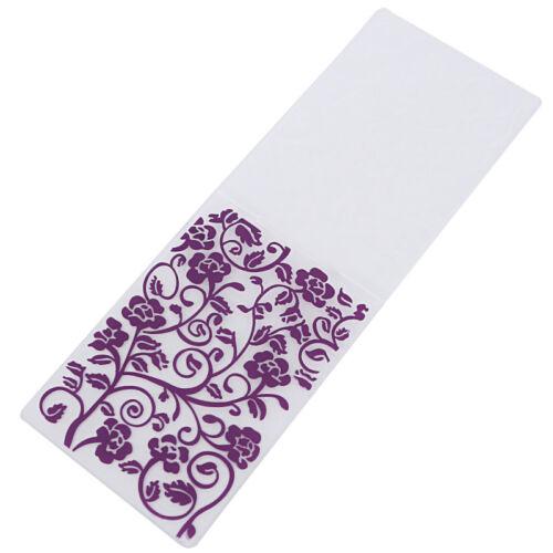 Prägeschablone Embossing Folder Scrapbooking Plastik Chic Neu 1x Mehrfarbig DIY