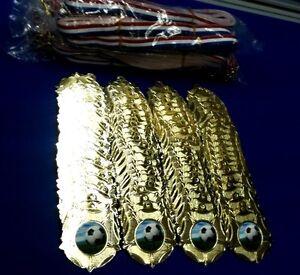 Football-Metal-Medals-Gilt-gold-amp-Ribbons-x-100