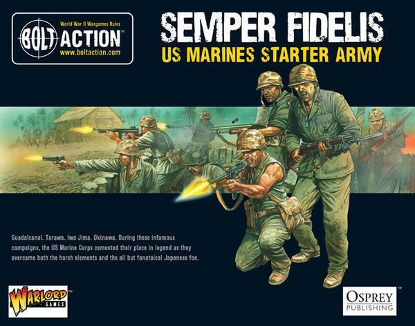Semper Fidelis US Marine AVVIATORE esercito scatola - Warlord BOLT AZIONE