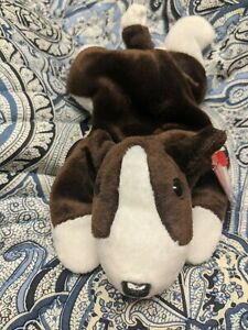 Ty Beanie Baby - BRUNO the Terrier Dog (8.5 Inch) MINT with MINT TAGS PVC