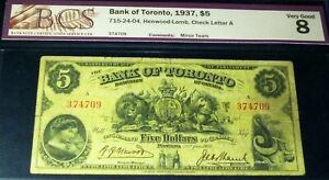 1937-5-BANK-OF-TORONTO-CANADA-CHARTERED-BANKNOTE