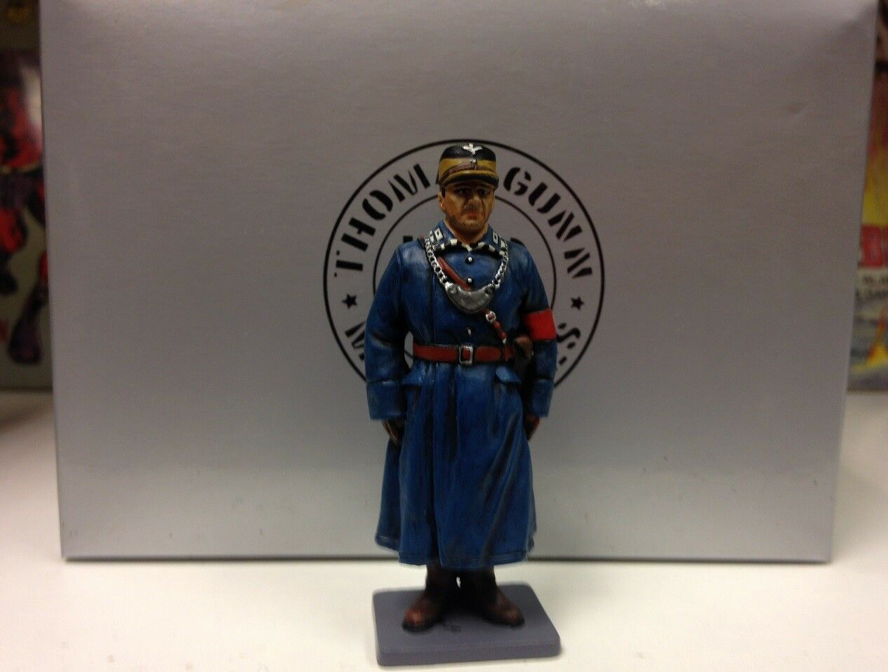 THOMAS GUNN WW2 GERMAN NORMANDY BER006B SA POLICEMAN AT ATTENTION. FREE UK POST.