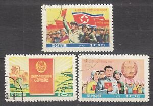 KOREA-1973-used-SC-1174-76-set-Constitution-of-Pn-Korea