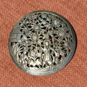 Antique-signed-Indochina-Silver-Pin-Pendant-2-1-2-034