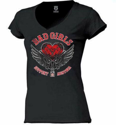 Hells Angels Support 81 Lady/'s Shirt schwarz***Herz mit Flügel***NEU***