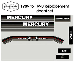Mercury-Outboard-decals-1990-135hp-Replacement-decals