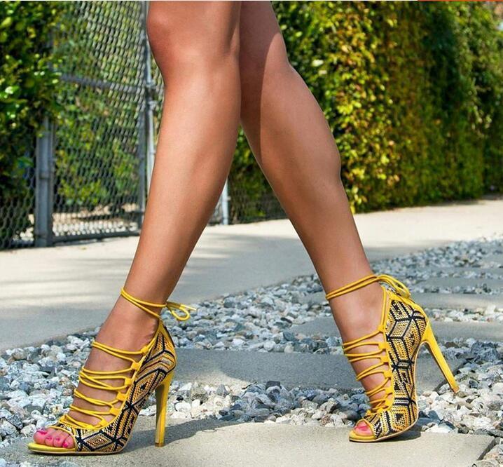 basta comprarlo Sexy Da Donna Donna Donna Oxford Peep Toe Pump Weave cinturino alla caviglia tacco alto scarpe UK Sz35-47  memorizzare