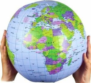image is loading inflatable 40cm globe atlas world map earth blow