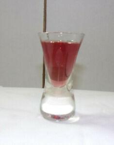 A-MUST-HAVE-VINTAGE-1950-039-S-SOLID-BOTTOM-ETCHED-LEAF-PATTERN-1-OZ-SHOT-GLASS