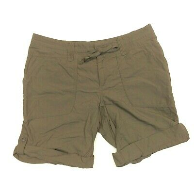 Earnest The North Face Women's 10 Brown Nylon Roll-up Cargo Hiking Shorts Euc Bright Luster 32""
