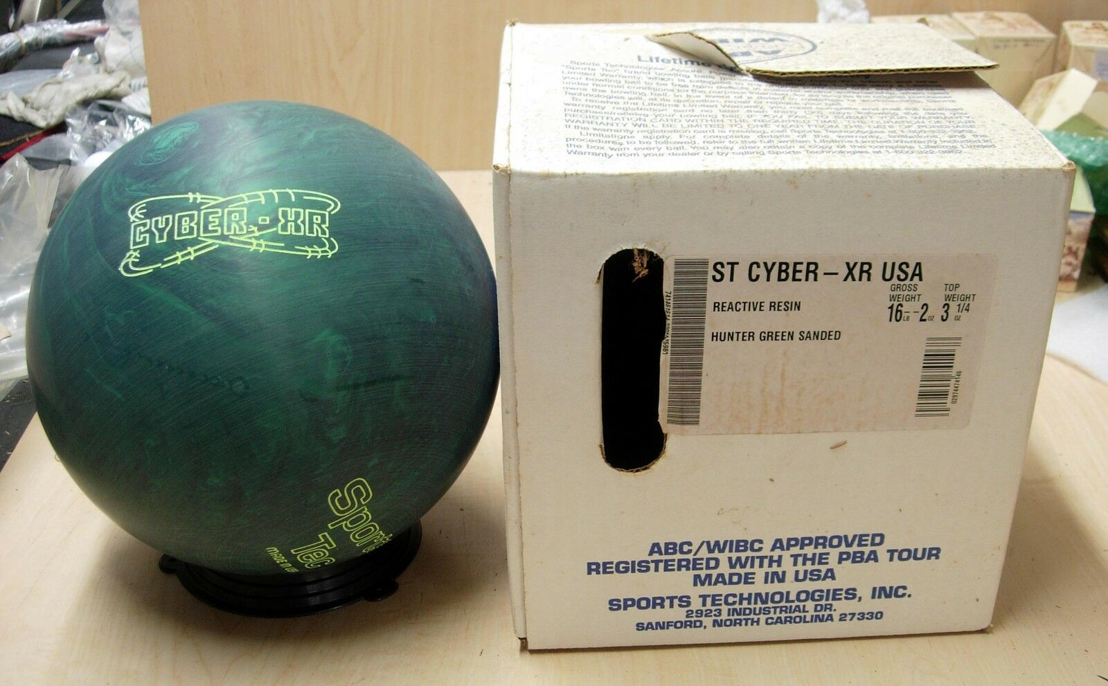=16golden Goodie SPORTS-TEC (Steve Malloy's Sanford, NC) CYBER-XR Hunter Green