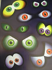halloween eyeball stickers for mirrors,windows etc reusable