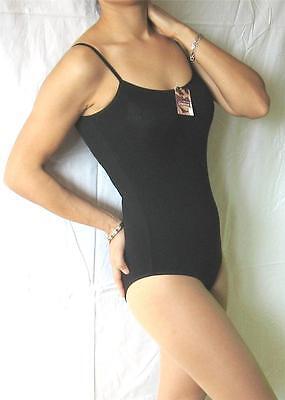 New COTTON Black/White Bikini BodySuit Stretch Thin Straps Camisole Sexy Top