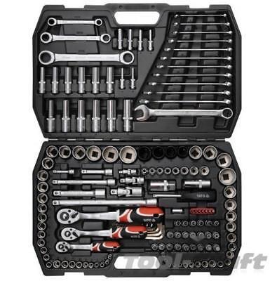 "Yato Professional 12 pcs Ratchet Socket Set 1//2/"" Tools Toolbox  YT-38671"