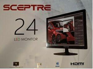 """Sceptre 24/"""" E248W-19203S 75Hz Full HD 1080P LED Monitor HDMI VGA Build in Speake"""