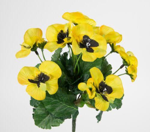 Stiefmütterchen 26cm gelb PM Kunstpflanzen Kunstblumen künstliche Blumen Pflanze