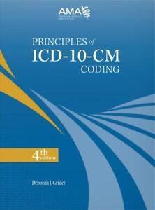 Principles of ICD-10-CM Coding, Paperback by Grider, Deborah J., Brand New, F...