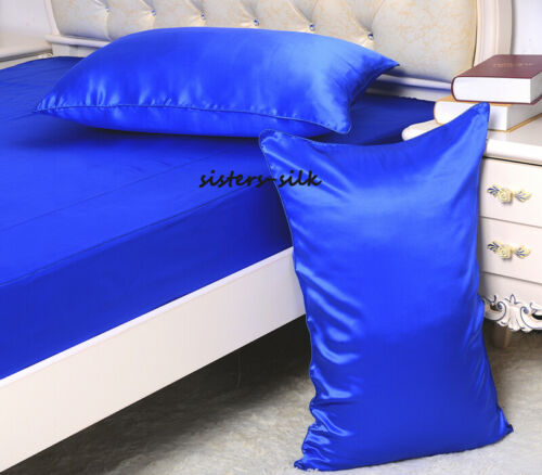 1pc 16MM Silk Pillowcase Pillow Cover Both Face Silk Pillow Slip Zipper Closure