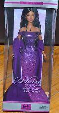 Barbie 2002 Birthstone Collection February Amethyst Brunette Purple Dress