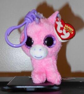 69c8be24e4e Ty Beanie Boos Key Clip ~ MAGIC the Pink Unicorn (3 Inch)(Glitter ...