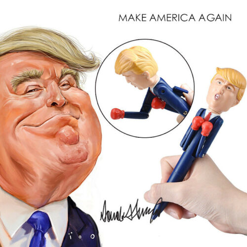 Donald Trump Stress Relief Talking Boxing Pen Funny Toy for Pranks Gift New