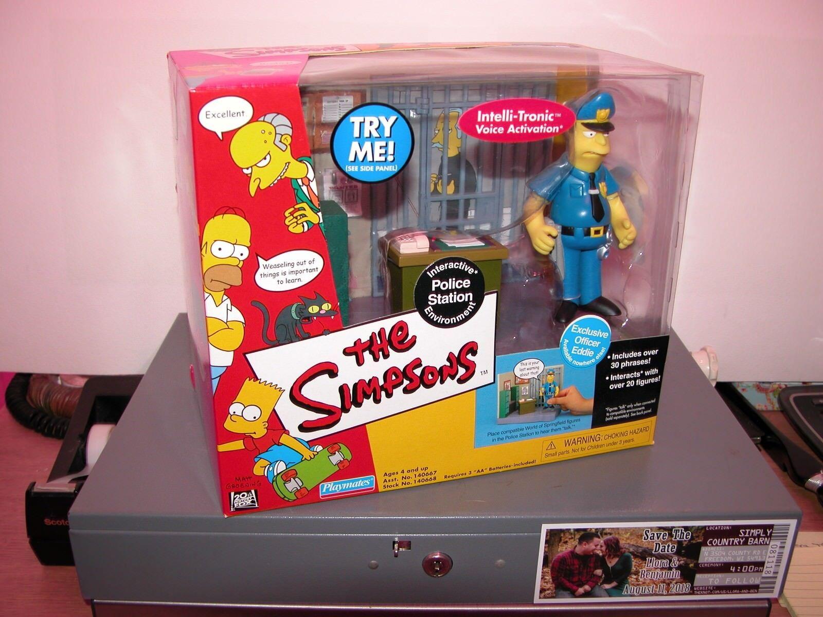Spelare värld of Springfield Simpsons WOS nya polis Eddie