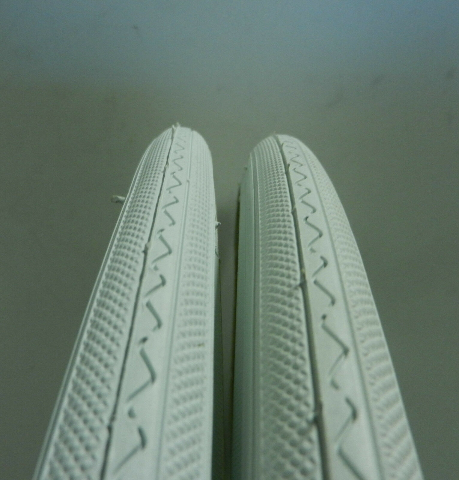 Two bicycle tires 27 x 1 Duro 75 psi White Tires Includes Tubes and Rim Strips