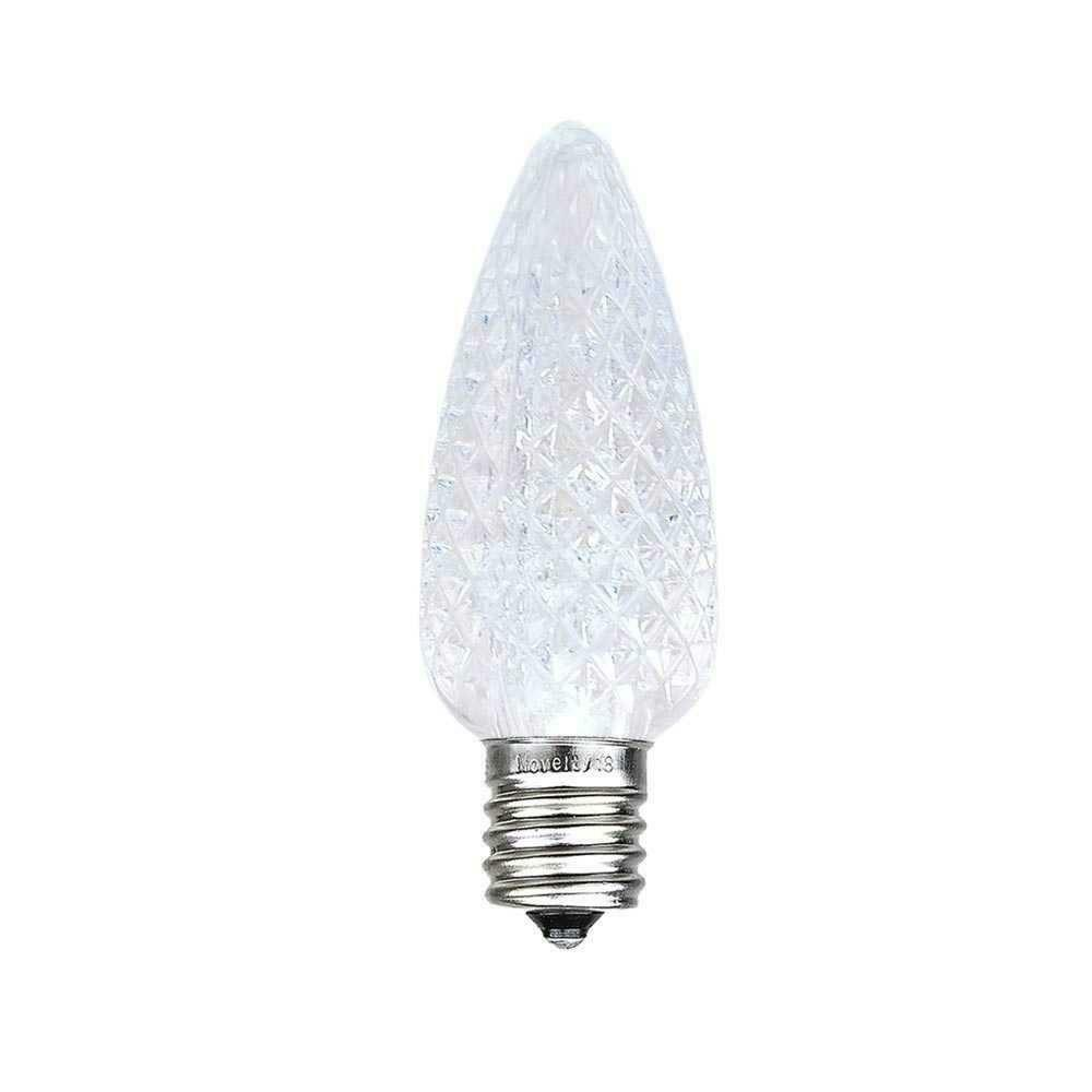 Novelty Lights 25 Pack C9 LED Ultra Bright Outdoor Christmas Replacement Bulbs,