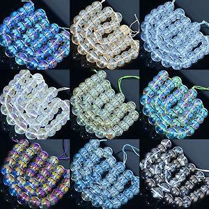Metallic-Titanium-Coated-Natural-Quartz-Crystal-Round-Beads-6mm-8mm-10mm-12mm