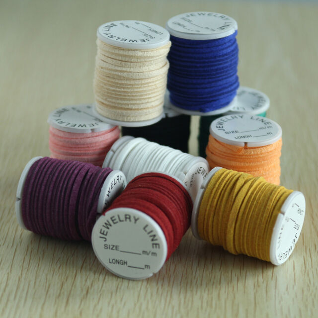 10 Rolls Cord Velvet Thread String Wire for Bead Necklace Bracelet Mix Color