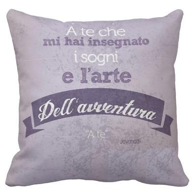 Cuscino Personalizzato Jovanotti Dedica Frase Canzone D Amore A