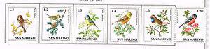 San Marino Fauna Birds stamps 1972 MLH