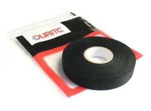 1-x-Black-Fleece-Adhesive-Electric-Loom-Harness-Tape-19mm-x-25m-Durite-0-527-50