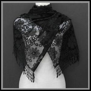 Easter Wedding Pashmina Scarf Shawl Black Lace Formal