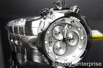 e5882bc657c Men Invicta 5730 Reserve Venom Silver Stainless Chronograph Swiss Made  Watch New