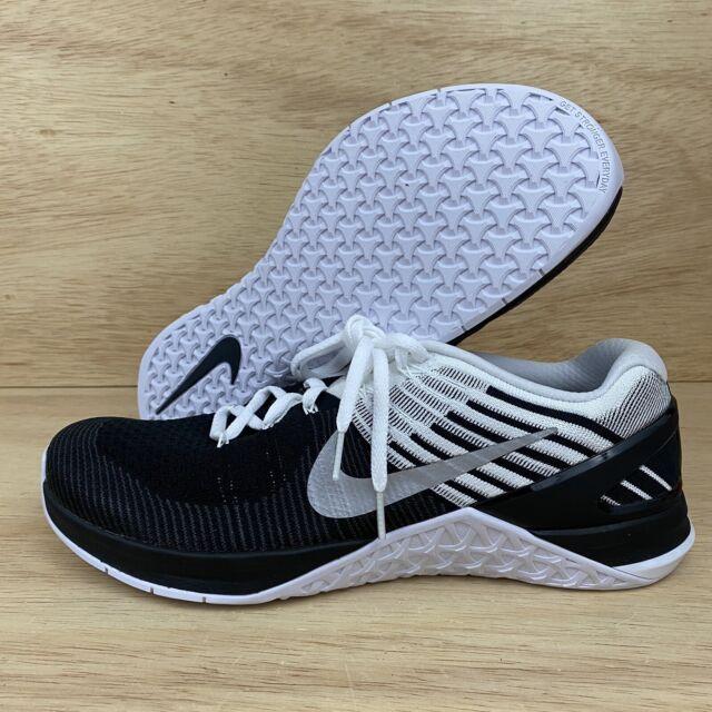 Nike Metcon DSX Flyknit Mens Sz 11 CrossFit Training Shoes Black White NEW