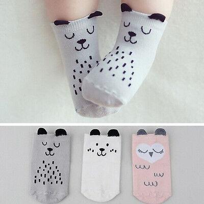 Baby Infant Socks Newborn Cotton Boys Girls Cute Cartoon Toddler Anti-slip Socks