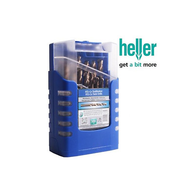 25pc Heller HSS-G Drill Set 1mm to 13mm in .5 increments High Speed Steel