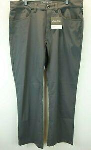 Para Hombres Pantalones Chino Guia De Horizonte Eddie Bauer Pantalones De Carbono 35w 30l Nuevo Con Etiquetas Ebay