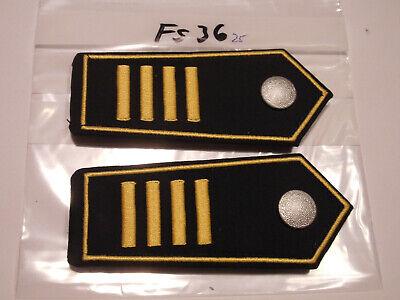 Branddirektor 1Paar fs36 Schulterstücke Feuerwehr 4 gelbe Balken Ltd