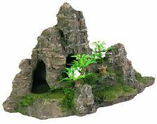 ROCK formazione GROTTA Acquario Decorazione 22 cm Ornamento Acquario Decorativo